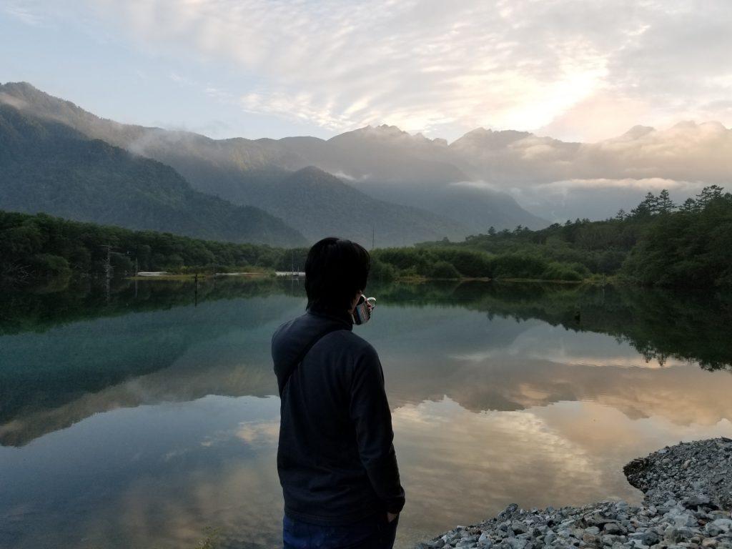 大正池、最高の珈琲を早朝5時にいただく、山縣有斗