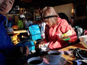 穂高岳山荘の珈琲
