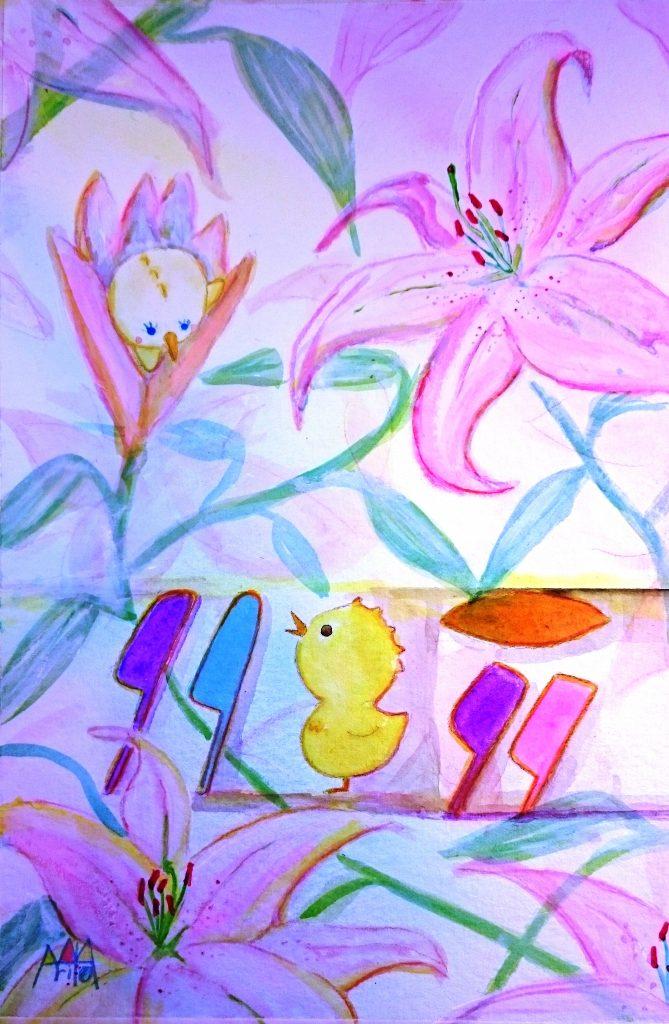 ピエールと花と
