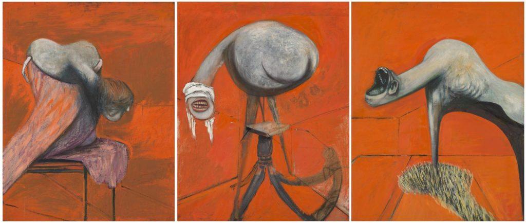 フランシス・ベーコン 「ある磔刑の基部にいる人物像のための三習作」