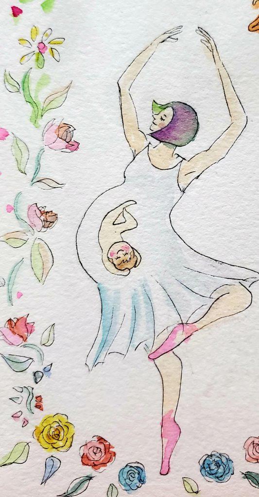踊るワイフと赤ちゃん 作:Arito Art