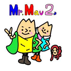 AritoArtのLINEスタンプ Mr.Mau2