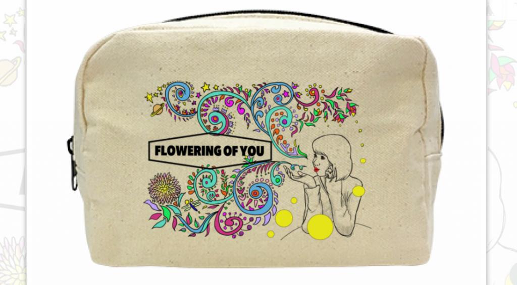 Flowering of you  キャンバスファスナーポーチ