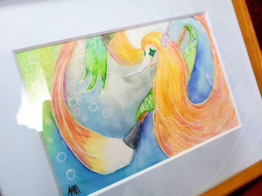 額付きで展示・販売しております 「アマビエ Do It」 ©Arito Art