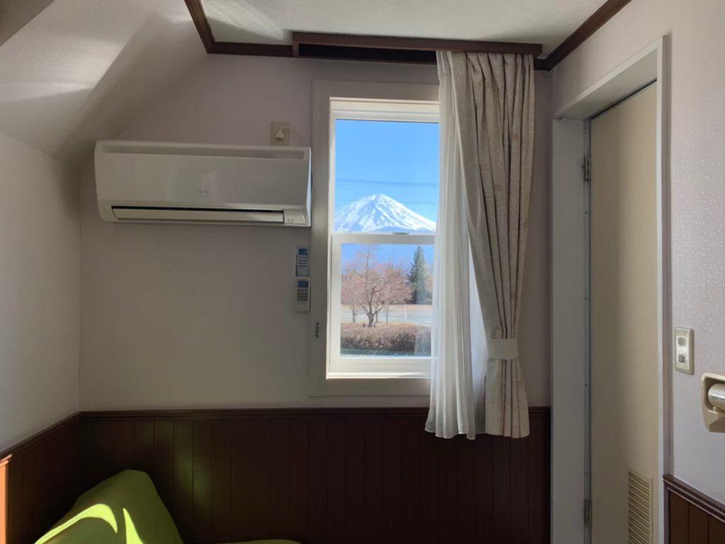 部屋から富士山が見える部屋!