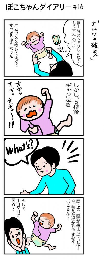 ぽこちゃんダイアリー#15 オムツの確変 ©Arito Art