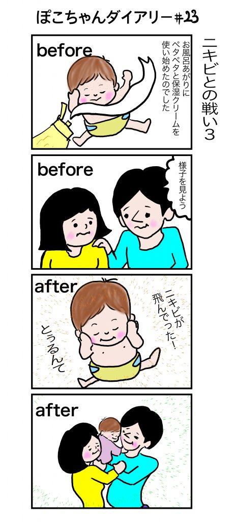 ぽこちゃんダイアリー#21 ニキビとの戦いその3 ©Arito Art