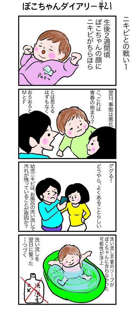 ぽこちゃんダイアリー#21 ニキビとの戦い1 ©Arito Art