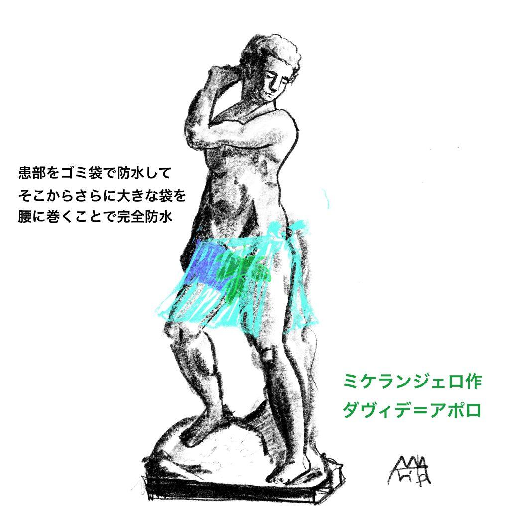 粉瘤と防水のイメージ図 ©Arito Art