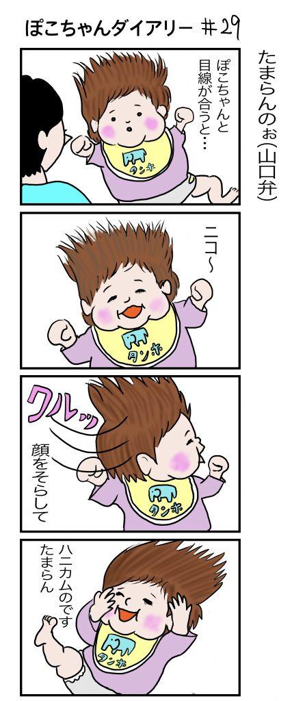 ぽこちゃんダイアリー#29 たまらんのぉ(山口弁) ©︎AritoArt
