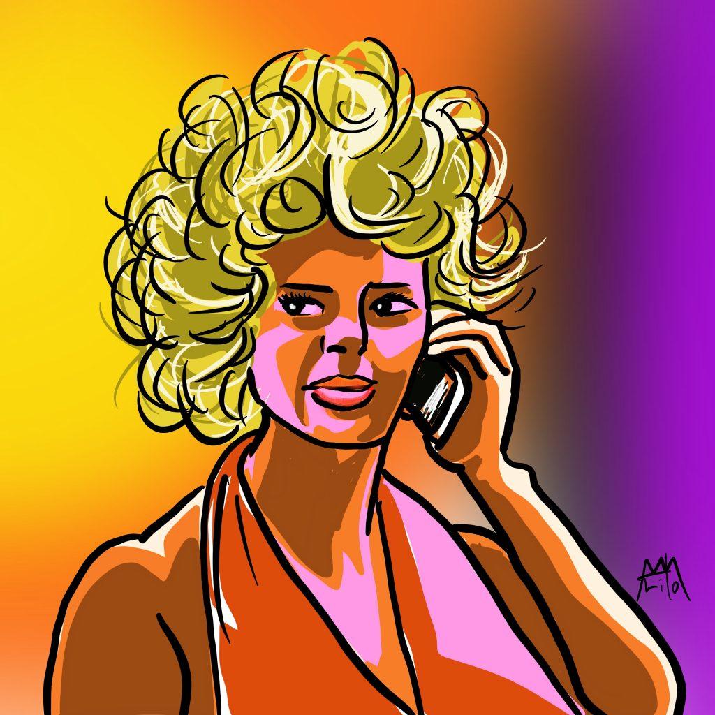 マリリン・モンローさんのザラ役 マリー・イブ・スーラ・ラフェリエール 絵:©Arito Art