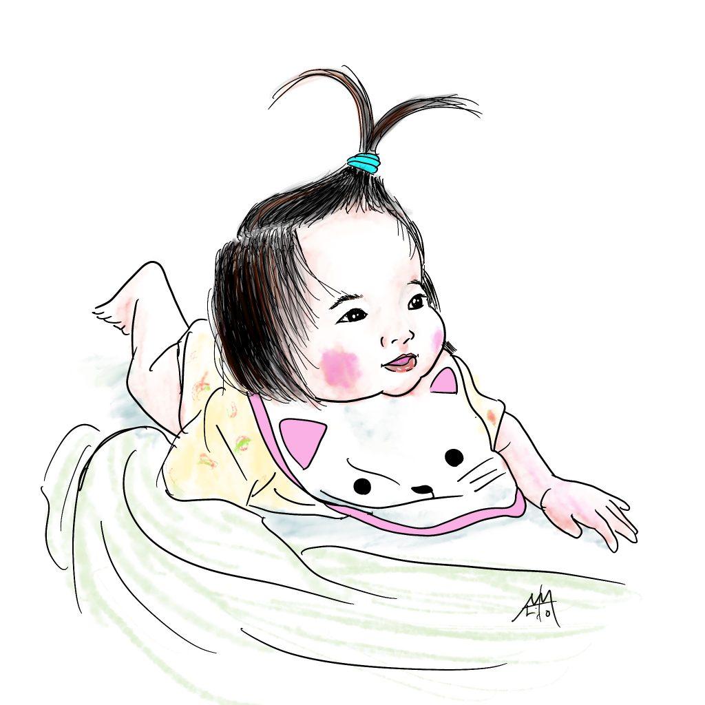 このカブトムシ髪型が可愛いですよ(笑) 久しぶりのペンイラストになりました。©Arito Art