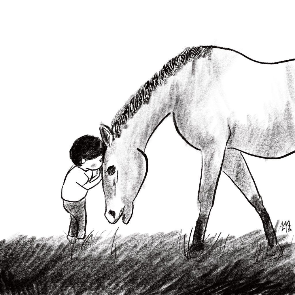 🄫Arito Art イメージ図 ぼくと馬