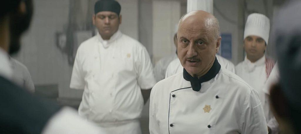 ホテルの料理長役、アーミー・ハマー